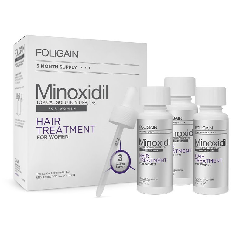 Foligain Minoxidil 2% tratament